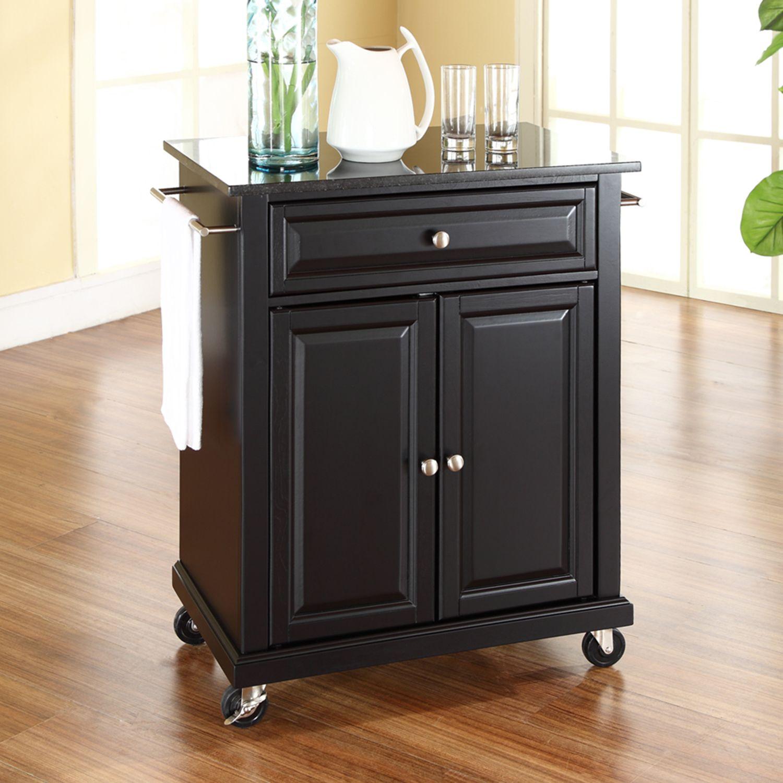 Exceptionnel Crosley Furniture Black Granite Top Kitchen Island Cart