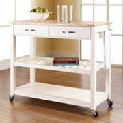Crosley Furniture Wood Top Kitchen Cart