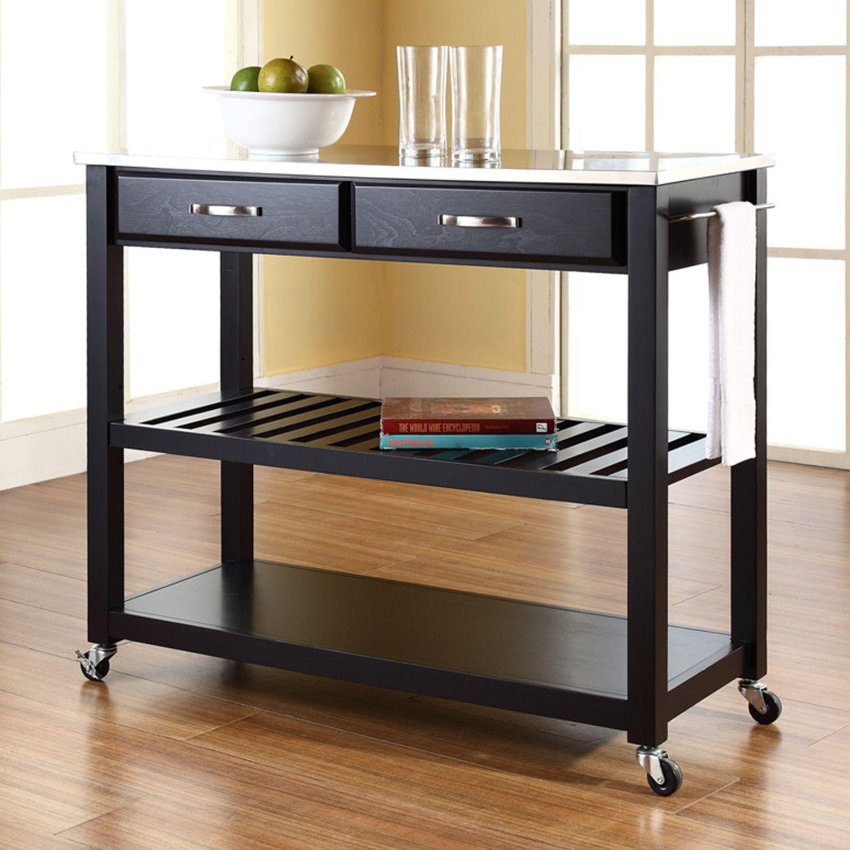 Merveilleux Crosley Furniture Stainless Steel Top Kitchen Cart