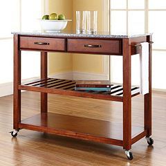 Crosley Furniture Granite Top Kitchen Cart
