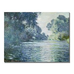 'Branch of the Seine Near Giverny' Canvas Wall Art by Claude Monet