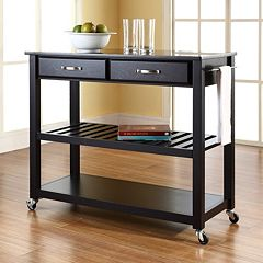 Crosley Furniture Black Granite Top Kitchen Cart  by