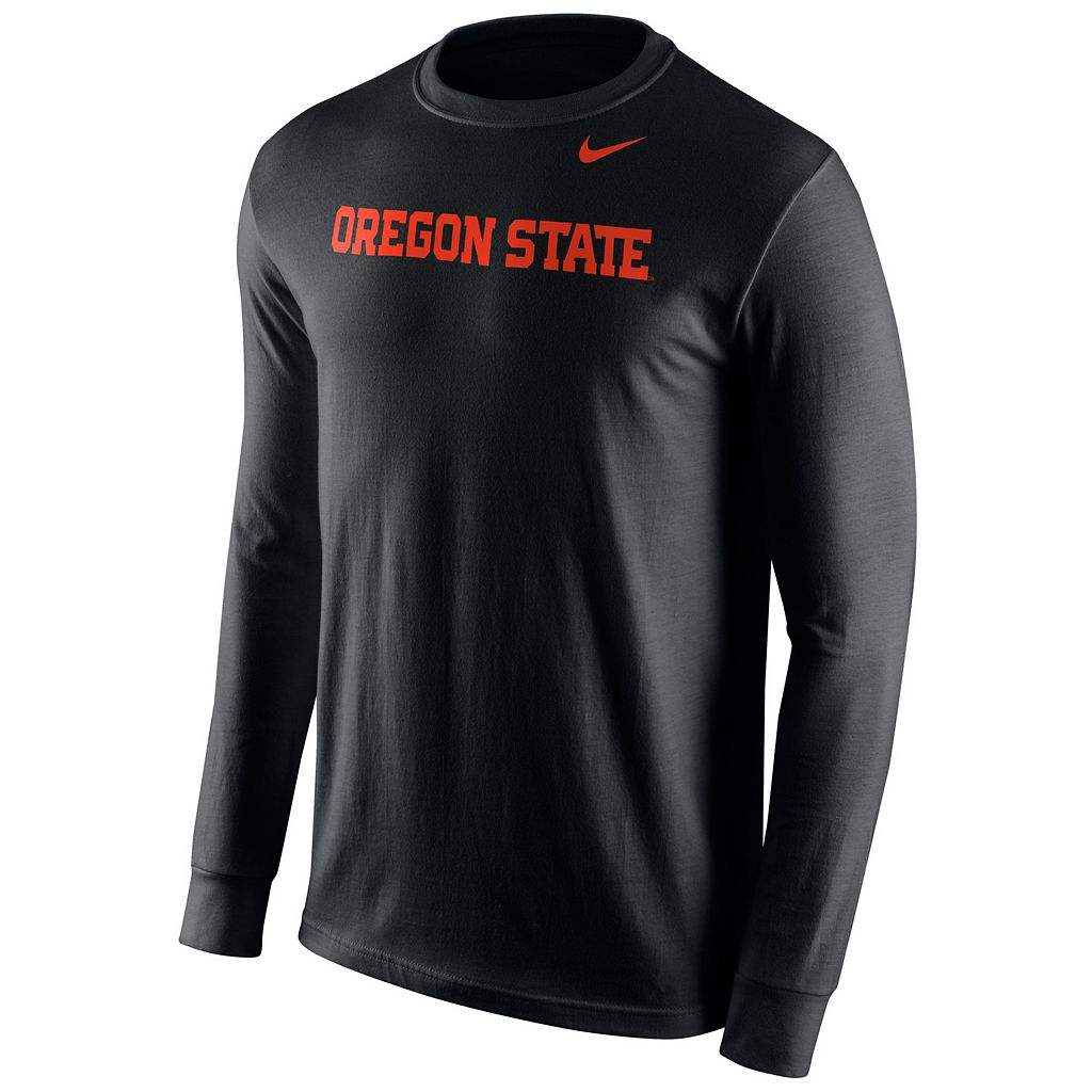Men's Nike Oregon State Beavers Wordmark Long-Sleeve Tee