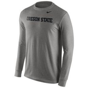 Men's Nike Oregon State Beavers Wordmark Long-Sleeve Tee