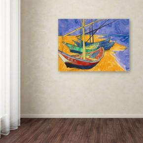 """Fishing Boats on the Beach"" Canvas Wall Art by Vincent van Gogh"