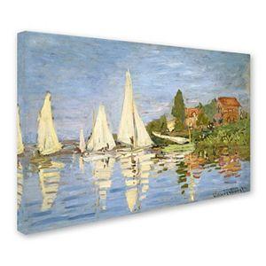 """""""Regatta at Argenteuil"""" Canvas Wall Art by Claude Monet"""