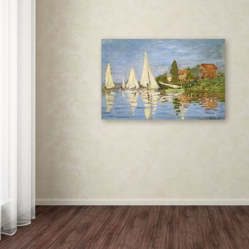 """Regatta at Argenteuil"" Canvas Wall Art by Claude Monet"