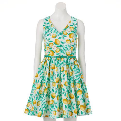 ELLE? Floral Fit & Flare Dress - Women's