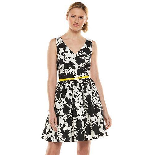 ELLE™ Floral Fit & Flare Dress - Women's