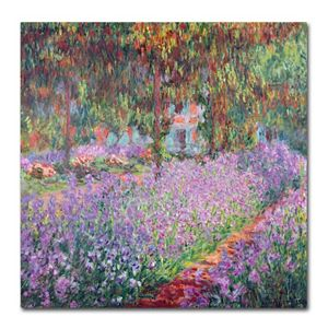 """Garden at Giverny"" Canvas Wall Art by Claude Monet"