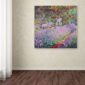 """""""Garden at Giverny"""" Canvas Wall Art by Claude Monet"""