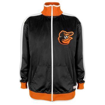 Men's Stitches Baltimore Orioles Black Track Jacket