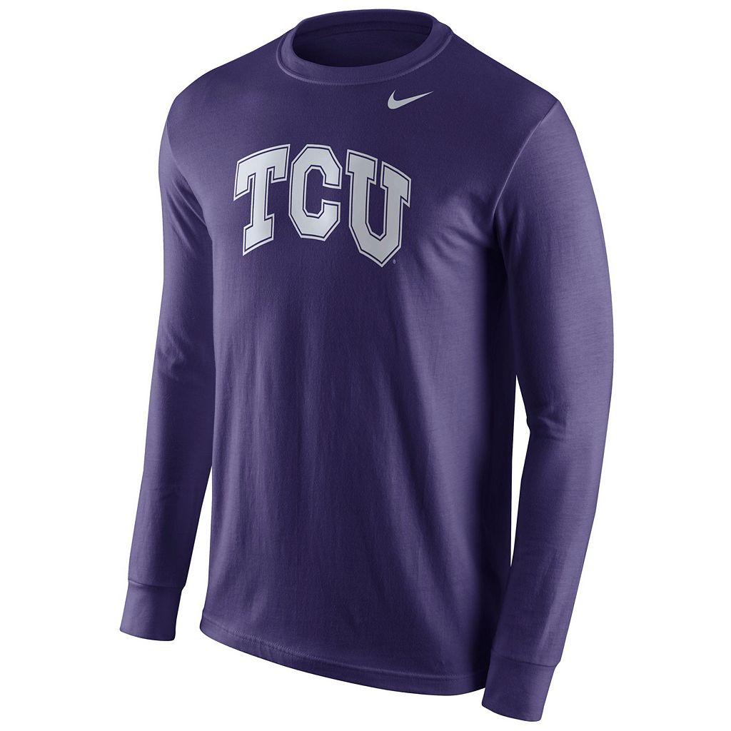 Men's Nike TCU Horned Frogs Wordmark Tee