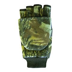 QuietWear Fleece Convertible Flip-Top Mittens - Men