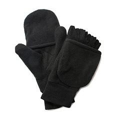 QuietWear Fleece Convertible Flip-Top Mittens - Men