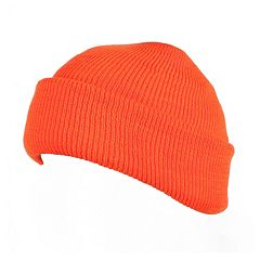 QuietWear Micro Acrylic Fat Hat - Men. Blaze Orange Adventure Brown 662430b303d