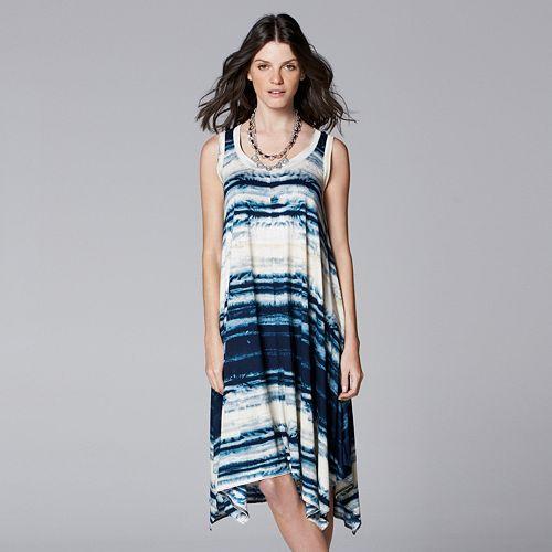 90082b7d08b Simply Vera Vera Wang Print Handkerchief Tank Dress - Women s