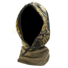 QuietWear Camo Fleece Hood with Knit Neck - Men