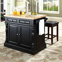 Crosley Furniture 3-piece Kitchen Island & Counter Stool Set