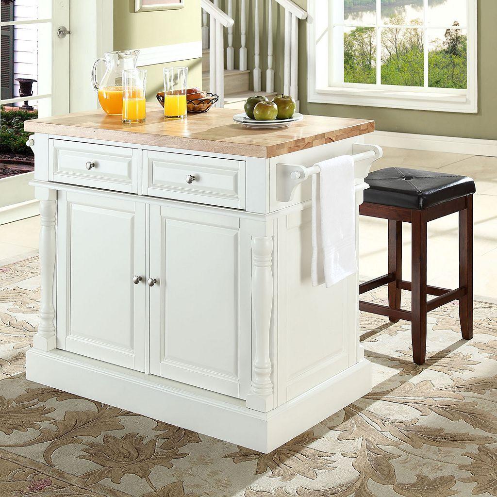 Crosley Furniture 3-piece Kitchen Island & Counter Stool Set