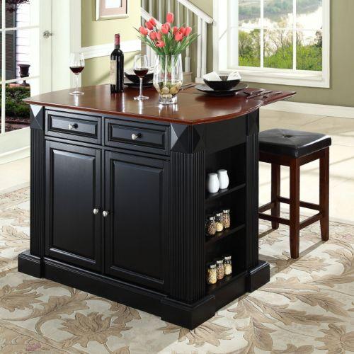 Crosley Furniture 3-piece Drop-Leaf Kitchen Island
