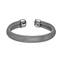 Steel City Stainless Steel Mesh Cuff Bracelet