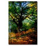 """Bodmer Oak, Fontainebleau Forest"" Canvas Wall Art by Claude Monet"