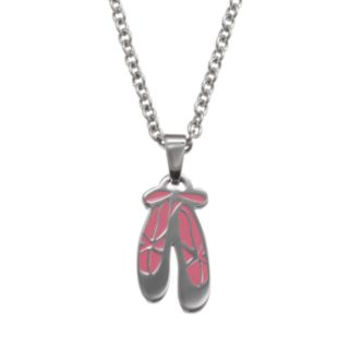 Steel City Stainless Steel Ballet Slippers Pendant Necklace