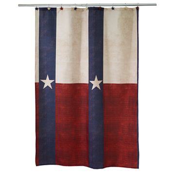Texas Star Fabric Shower Curtain