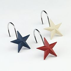 Texas Star 12 pkShower Curtain Hooks