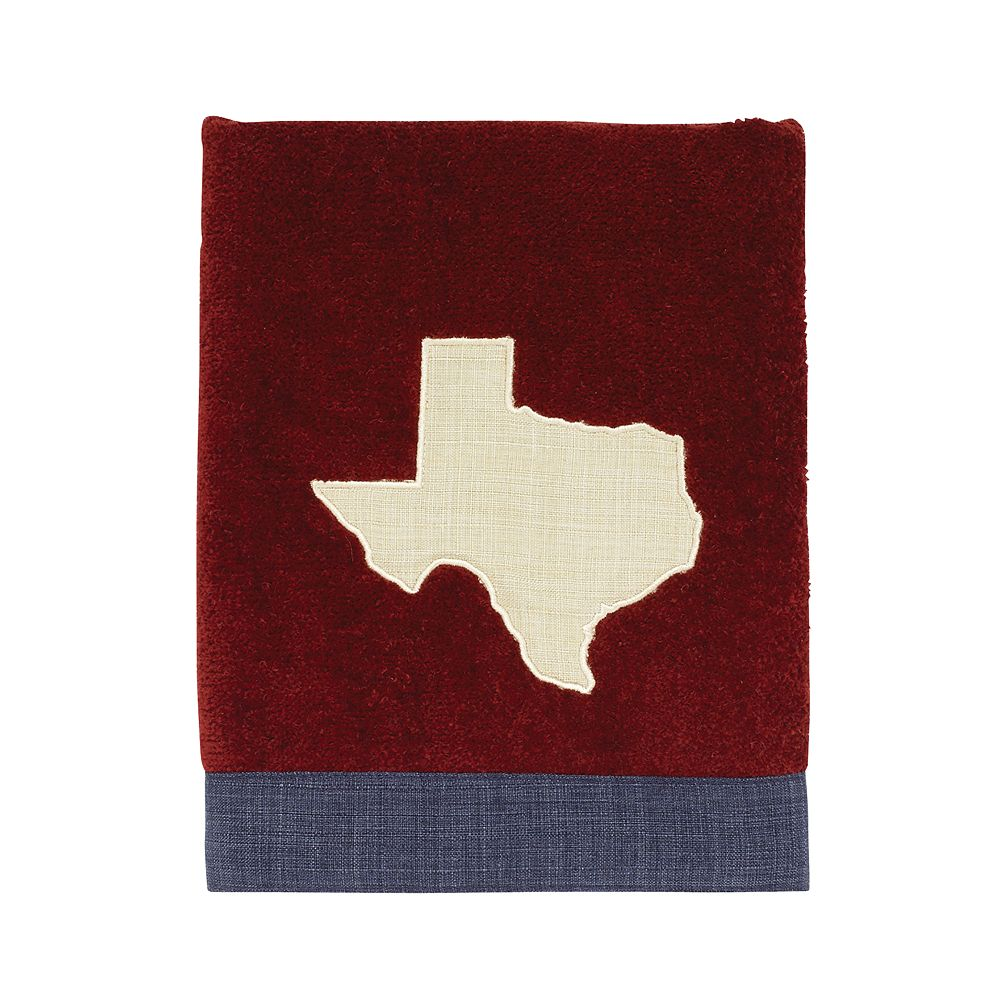 Avanti Texas Star Bath Rug Ivory Red /& Blue State Flag Bathroom Rug Mat NEW