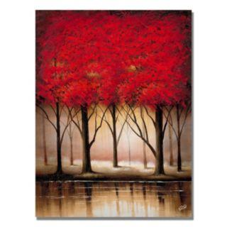 """Serenade in Red"" Canvas Wall Art"