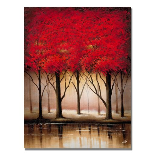 """Serenade in Red"" Canvas Wall Art"