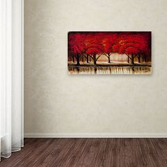 'Parade of Red Trees II' Canvas Wall Art