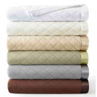 Micro Flannel Quilted Reversible Blanket