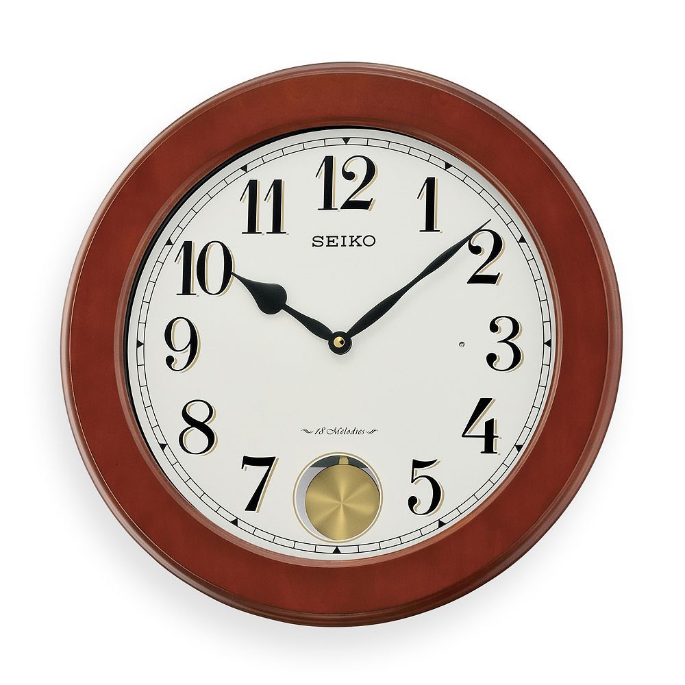 Dillon wood musical wall clock qxm548blh seiko dillon wood musical wall clock qxm548blh amipublicfo Images
