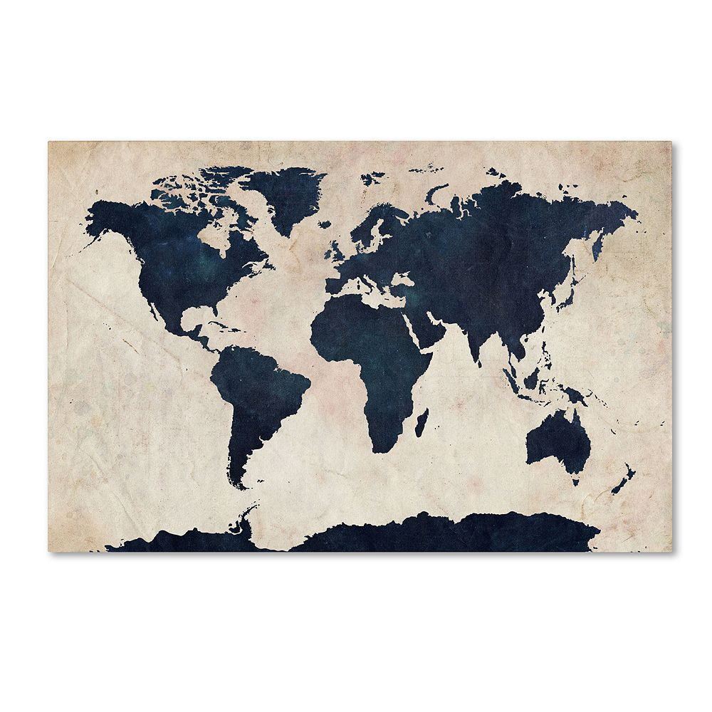 World map canvas wall art world map canvas wall art gumiabroncs Choice Image