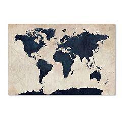 'World Map' Canvas Wall Art