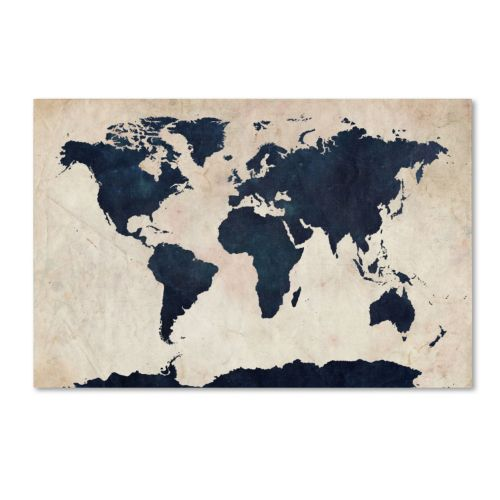 """World Map"" Canvas Wall Art"
