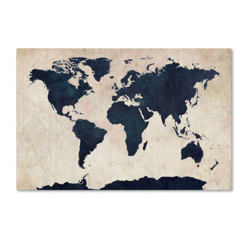 """World Map"" Canvas Wall Art"