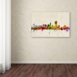 """San Francisco, California"" Canvas Wall Art"