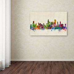 'Chicago, Illinois' Canvas Wall Art