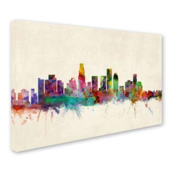 """Los Angeles California"" Canvas Wall Art"