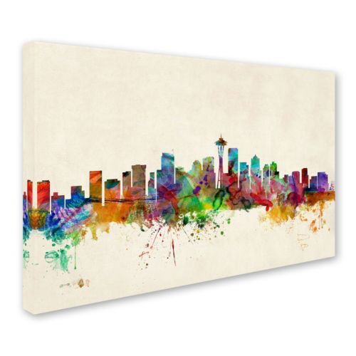 """Seattle Washington"" Canvas Wall Art"