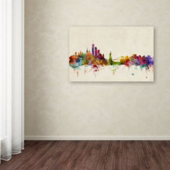 """New York, New York"" Canvas Wall Art"