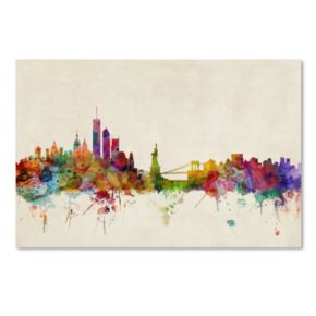 """New York, New York"" Canvas Wall Art"