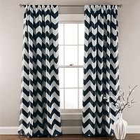 Lush Decor Chevron Blackout Window Curtain Pair - 52'' x 84''