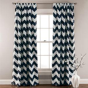 Lush Decor Chevron Blackout Window Curtain Pair - 52'' x 84''