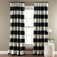 Lush Decor Striped Blackout Window Curtain Pair - 52'' x 84''