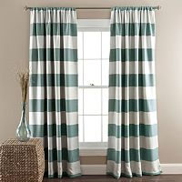 Lush Decor Striped Blackout Curtain Pair - 52'' x 84''